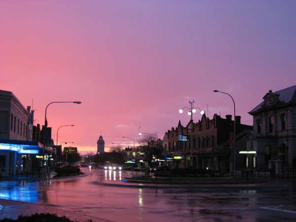 Sunset---Boorowa-Street-at-Young